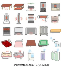 Illustration of various electric appliances / Winter