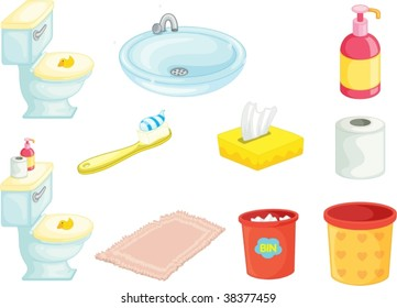 illustration of various objects on white