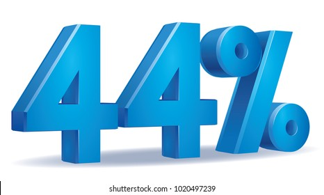 illustration Vector of 44 percent blue color in white background