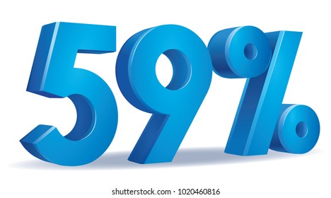 illustration Vector of 80 percent blue color in white background