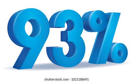 illustration Vector of 93 percent blue color in white background