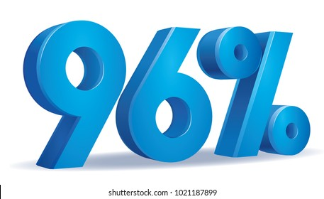 illustration Vector of 96 percent blue color in white background