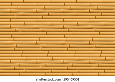 illustration of vector bamboo texture background with horizontal placement