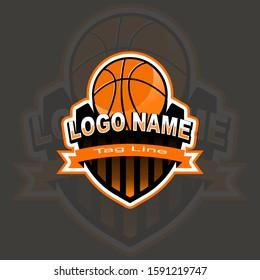 Illustration of Vector Basketball Template Logo