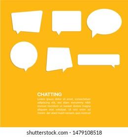 Illustration Vector: Bubble dialog box chatting template