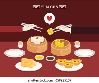 Illustration Vector Chinese Food Spring Roll Stock Vector Royalty