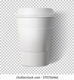 Illustration of Vector Coffee Cup Isolated on Transparent PS Style Background. Photorealistic Vector EPS10 Paper Coffee Cup Mockup