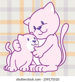 Illustration vector cute cats.