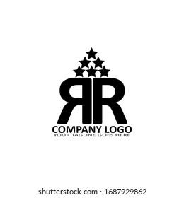 Illustration Vector of double R Letters Multipurpose Logo