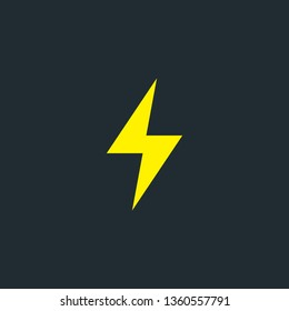 Illustration of vector electricity symbol
