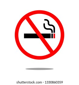 Illustration Vector EPS10: No Smoking signage