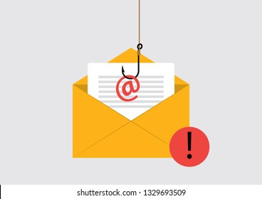 Illustration Vector EPS10: Phishing Attack on email