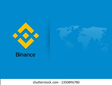 Illustration Vector EPS10:  Virtual electronic, internet money or cryptocoin symbol isolated on white background. Binance coin cryptocurrency blockchain icon.