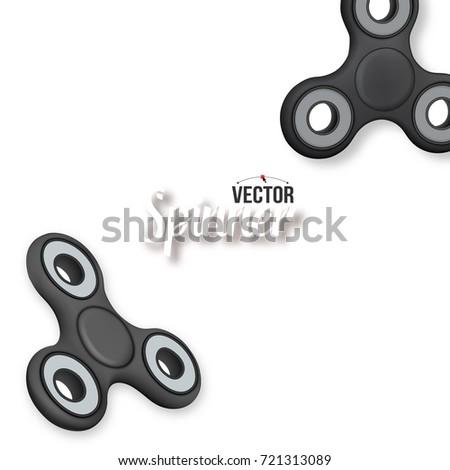 illustration vector fidget spinner banner template stock vector