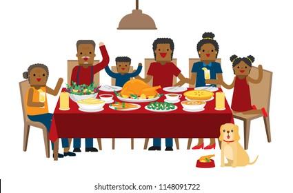 African American Cartoon Dinner Table Images Stock Photos Vectors Shutterstock