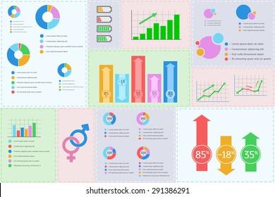 Illustration of vector flat design business infographics