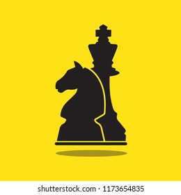 Illustration Vector: Flat Design Chess Knight and King