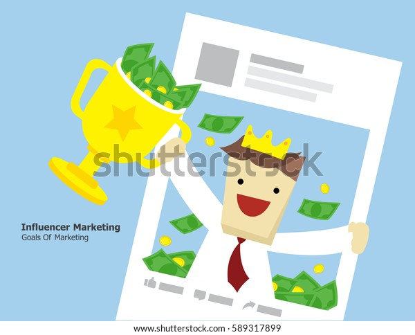 Illustration vector of goal marketing concept.