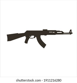 illustration vector graphic of assault riffle silhouette