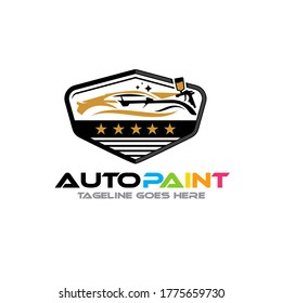 Illustration vector graphic of Auto Car Body Paintings logo design template