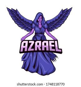 Illustration Vector Graphic of Azrael Angel. Perfect gaming logo, merchandise, t-shirt design, apparel, pin design, etc