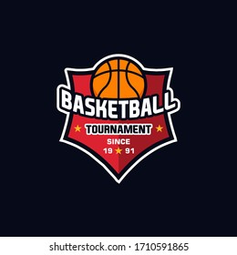 Illustration vector graphic of Basketball logo. Logo Design Template Inspiration