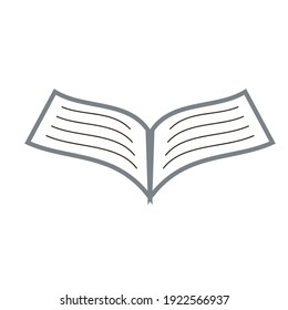illustration vector graphic of book open page. fit for education symbol