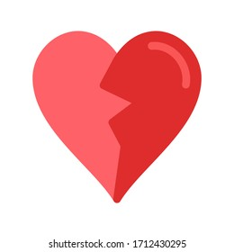 Illustration vector graphic of broken heart icon