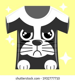 Illustration vector graphic cartoon character of dog patterned t-shirt