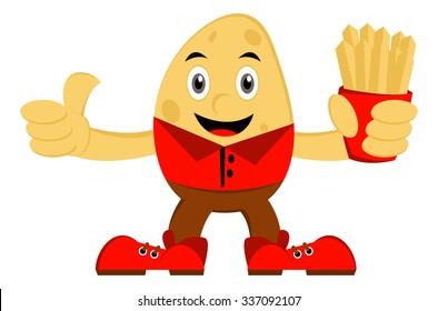 Illustration vector graphic cartoon character of potato