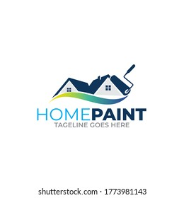 Illustration vector graphic of colored paintings logo design template