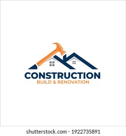 Illustration vector graphic of Construction, home repair, and Building Concept Logo Design template