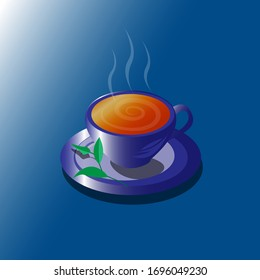Illustration vector graphic of cuppa tea, good for background, signs, logo, wallpaper, etc