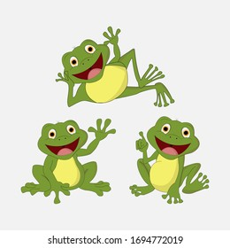 illustration vector graphic of cute  frog animal character cartoon isolated, perfect for cover, book, birthday card, gift card, wrap paper, sticker