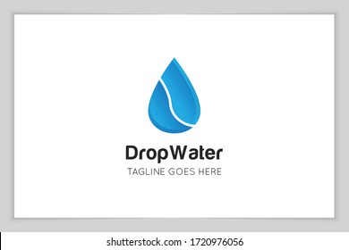 illustration vector graphic of drop water logo and icon good for liquid , plumbing, oil, water icon