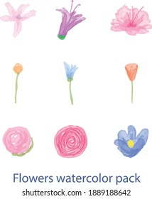 Illustration vector graphic of floral watercolor. Good for background poster or wedding invitation, etc