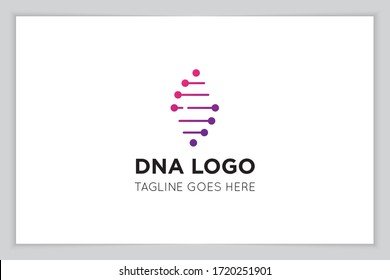 illustration vector graphic of genetic dna logo and icon good for science, research, technology, biology icon