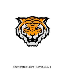 Illustration vector graphic of head tiger icon