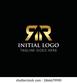 illustration vector graphic initial rr logo best for branding and r icon