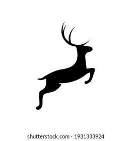 illustration vector graphic of jumping deer logo