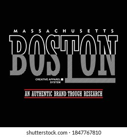 Illustration vector graphic of lettering, boston, perfect for t-shirts design, clothing, hoodies, etc.