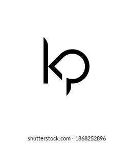 illustration vector graphic of logo letter kp