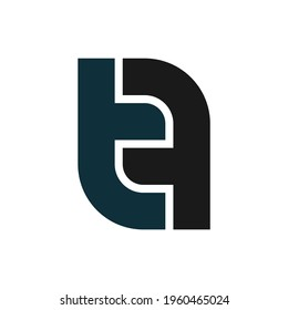 illustration vector graphic of logo letter tf puzzle