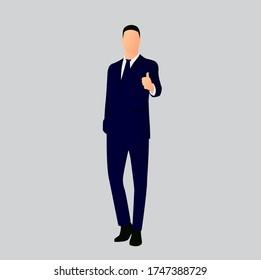 Illustration vector graphic of a male great employee. Perfect to use for website content or image presentation.