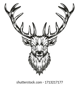 illustration vector graphic of moose line art  for coloring books