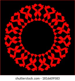illustration vector graphic of red flower clone pattern geometric shape icon concept design