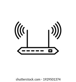 Illustration Vector graphic of router icon