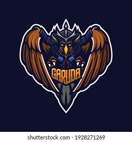 illustration vector graphic of samurai eagle perfect for e-sport team mascot and game streamer
