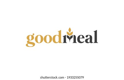 illustration vector graphic of simple, modern, classic, combination wordmark and iconography for healthy food, organic meals logo design