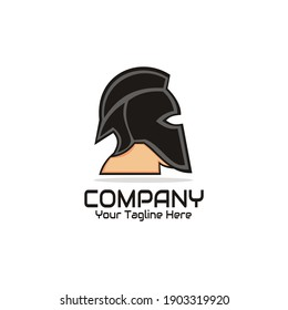 illustration vector graphic of spartan head design logo, perfect for company, business, sport, etc.